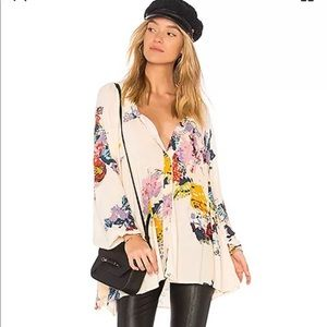 Free people meadow lark floral tunic sz S